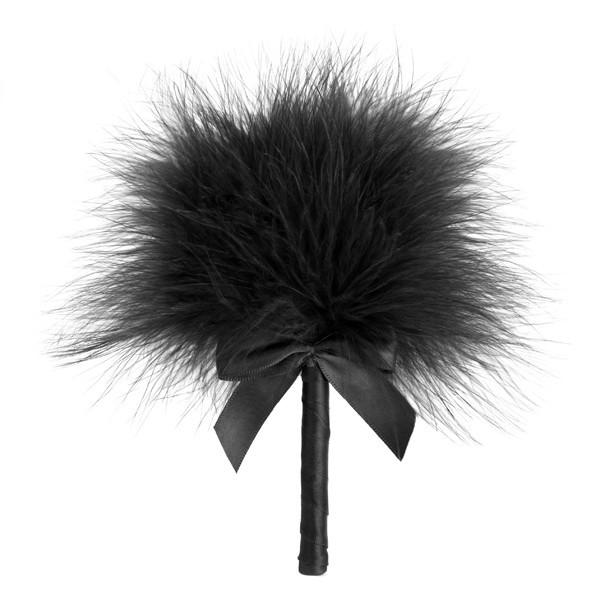 Bijoux Indiscrets Кисточка перьевая черная